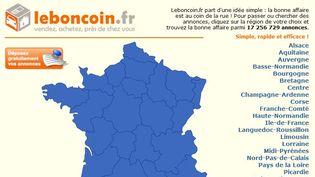 Capture écran du site de petites annonces gratuites leboncoin.fr. (  FRANCETV INFO / LEBONCOIN.FR)