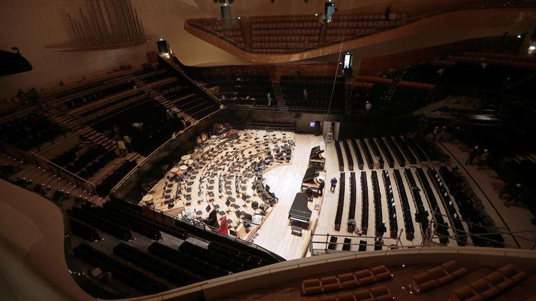 Salle Pierre Boulez à la Philharmonie de Paris (JACQUES DEMARTHON / AFP)