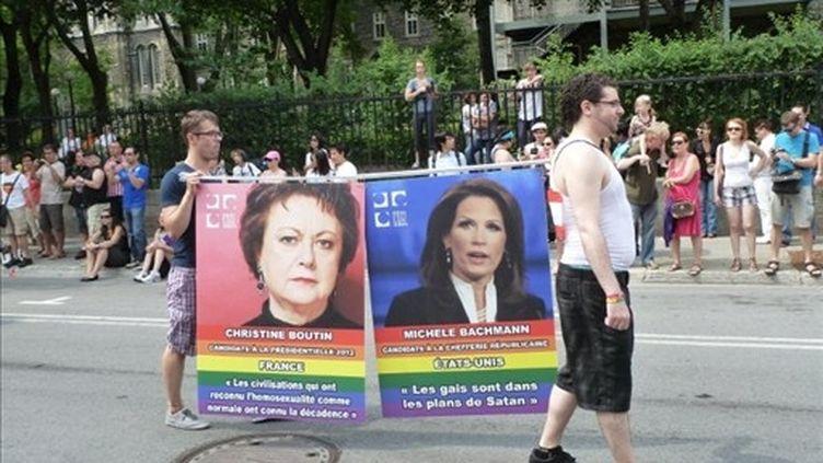 Christine Boutin est considérée comme homophobe par des associations lesbiennes au Canada. (MICHEL VIATTEAU / AFP)
