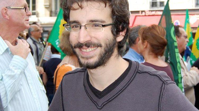 Stéphane Sitbon-Gomez, directeur de campagne d'Eva Joly à 24 ans. (VINCENT BERVILLE)