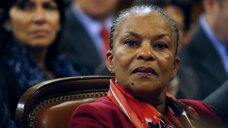 Christiane Taubira au Tribunal de grande instance de Paris, le 18 janvier 2016. (THOMAS SAMSON / AFP)