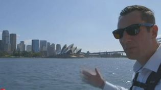 Christophe Hoppe à Sidney en Australie. (CAPTURE D'ÉCRAN FRANCE 2)