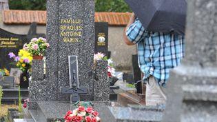 Le cimetière de Labry (Meurthe-et-Moselle), où une quarantaine de tombes chrétiennes ont été profanées dans la nuit du 2 au 3 août 2015. (JEAN-CHRISTOPHE VERHAEGEN / AFP)