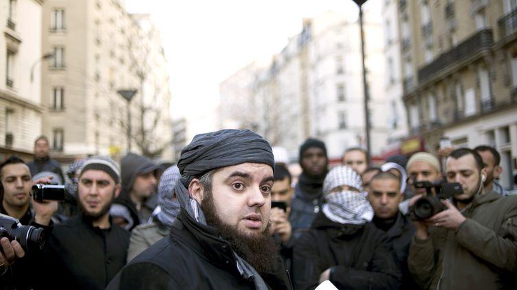 Mohammed Achamlane, considéré comme le chef de Forsane Alizza, en janvier 2012. (FRED DUFOUR / AFP)