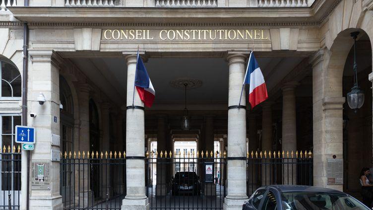 Le Conseil constitutionnel, le 1er août 2021, à Paris (GEORGES GONON-GUILLERMAS / HANS LUCAS / AFP)