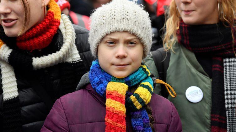 La militante écologiste suédoise Greta Thunberg, le 6 mars 2020, à Bruxelles (Belgique). (JOHN THYS / AFP)