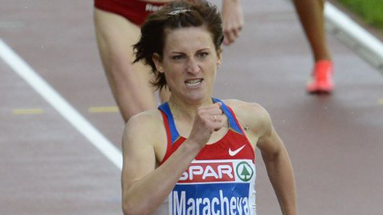 La Russe Irina Maracheva lors de sa médaille d'argent du 800m à l'Euro-2012