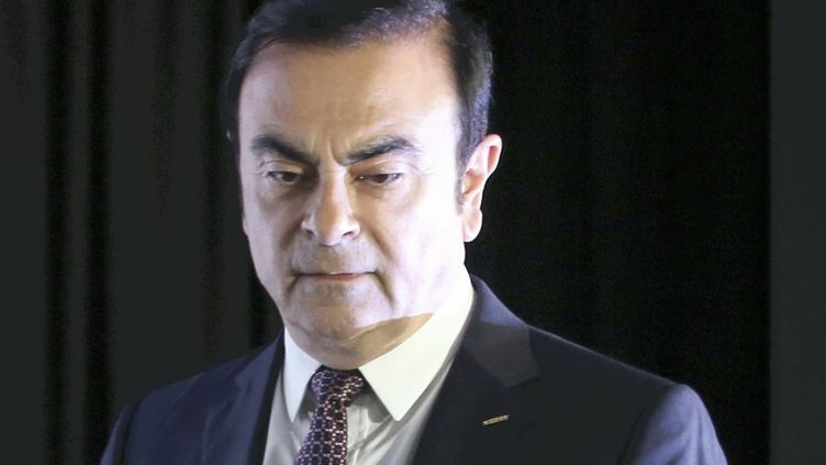 Carlos Ghosn lors d'une conférence de presse à Yokohama au Japon, le 12 mai 2016. (KOJI ITO / YOMIURI / AFP)