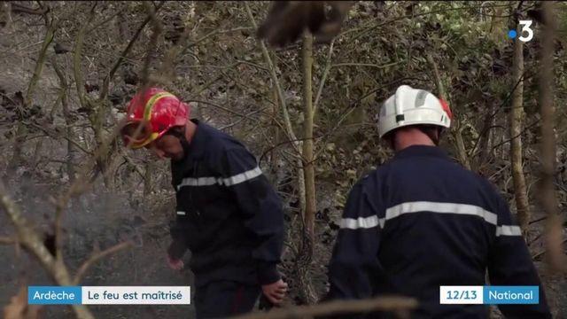 Ardèche : l'incendie sous surveillance