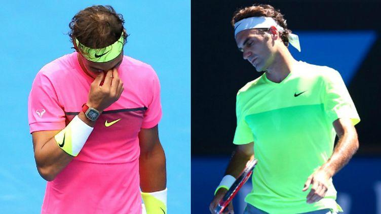 Rafael Nadal et Roger Federer en souffrance à l'Open d'Australie