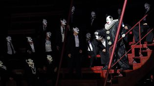 """George Gagnidze dans le """"Rigoletto"""" de Robert Carsen au Festival d'Avignon (répétition le 29 juin 2013)  (Boris Horvat)"""