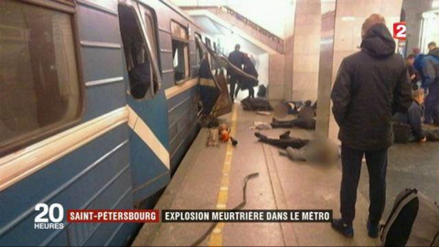 Saint-Pétersbourg : explosion meurtrière dans le métro