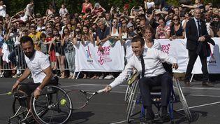 Emmanuel Macron le 24 juin 2017 à Paris. (ALAIN JOCARD / AFP)