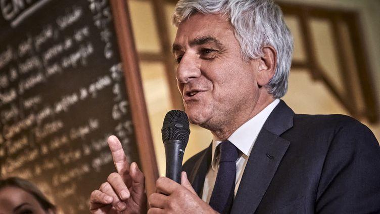 Le président sortant de la Normandie, Hervé Morin, le 25 février 2020 à Paris. (ANTONIN BURAT / HANS LUCAS / AFP)