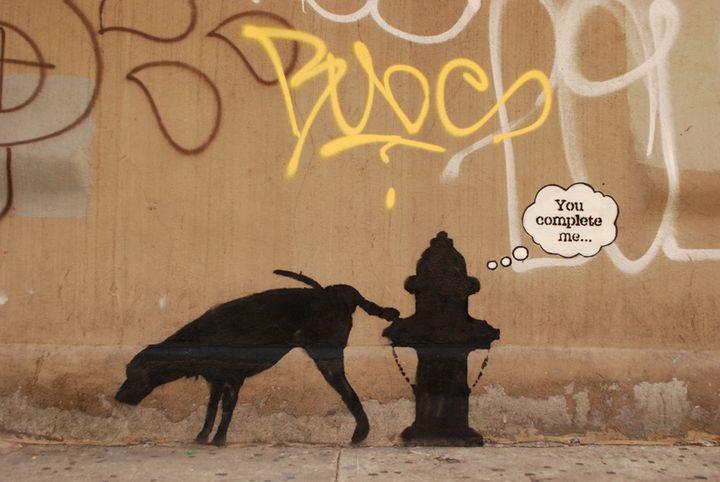 """""""Midtown"""", la troisième oeuvre de Banksy dévoilée le 3 octobre à New York.  (http://www.banksy.co.uk/)"""