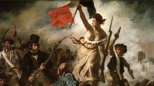 """Détail de """"La liberté guidant le peuple"""" d'Eugène Delacroix.  (Leemage)"""