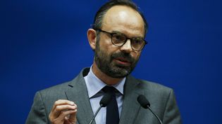 Edouard Philippe, le 11 mai 2017 au Havre (Seine-Maritime). (CHARLY TRIBALLEAU / AFP)