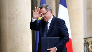 Le ministre de la Cohésion des territoires, Richard Ferrand, le 18 mai 2017 à l'Elysée. (MAXPPP)
