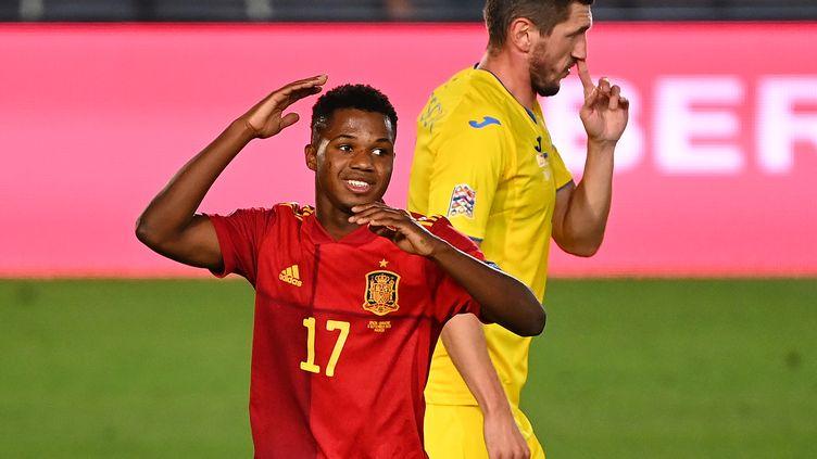 Ansu Fati, buteur avec l'Espagne (GABRIEL BOUYS / AFP)