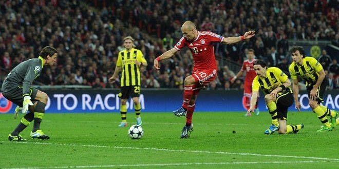 Arjen Robben a inscrit le but de la victoire face au Borussia Dortmund en finale de C1 2013