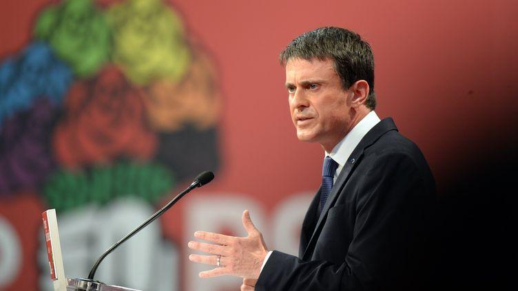 Le Premier ministre, Manuel Valls,au congrès du PS à Poitiers (Vienne), le 6 juin 2015. (JEAN-PIERRE MULLER / AFP)