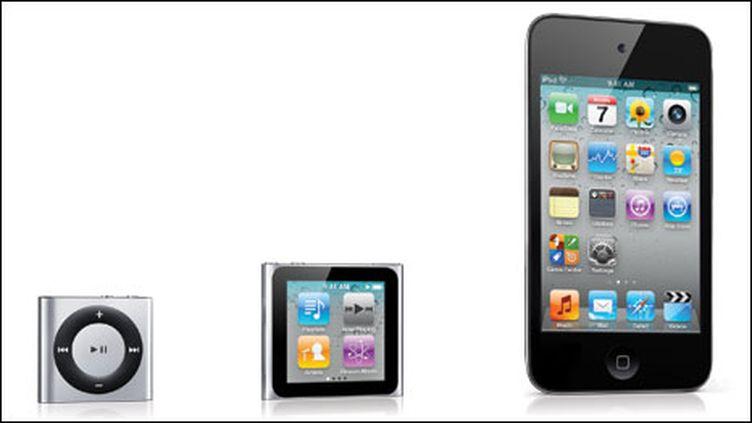 La nouvelle famille des iPod d'Apple (DR)