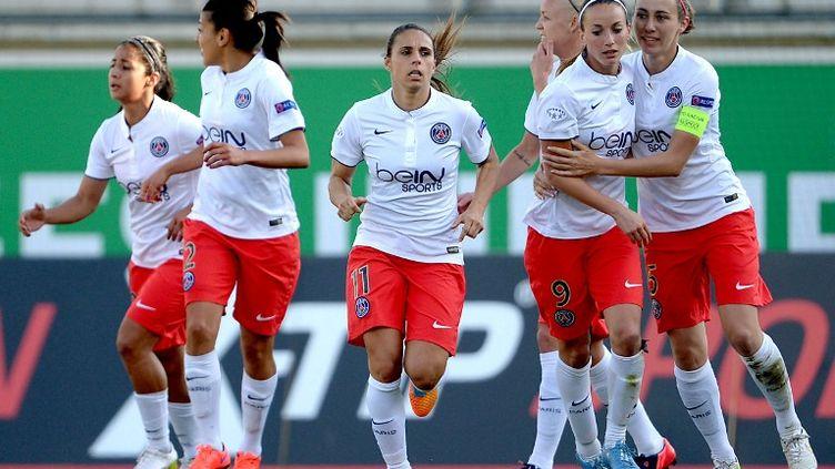 L'équipe féminine du PSG se qualifie pour la finale de Ligue des Champions, au dépens de Wolfsburg. (PETER STEFFEN / DPA)