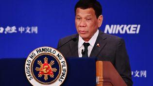 Le président philippin Rodrigo Duterte, le 31 mai 2019, à Tokyo, au Japon. (CHARLY TRIBALLEAU / AFP)