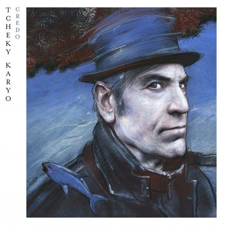 """""""Crédo"""" jaquette de l'album de Tchéky Karyo dessinée par Enki Bilal  (dr)"""