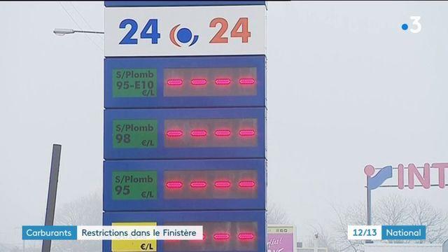 Blocages : restrictions sur le carburant dans le Finistère