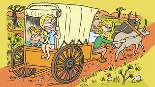 Pendant 4 ans, la famille Poussin a parcouru l'île de Madagascar sur une charrette. (FRANCEINFO / RADIOFRANCE)