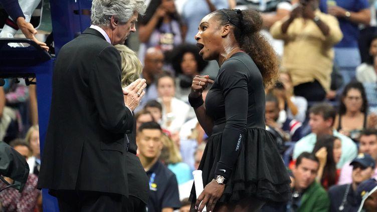 Serena Williams pique une grosse colère à l'US Open (TIMOTHY A. CLARY / AFP)