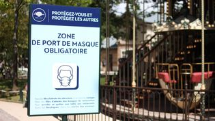 Lemasque sera notamment obligatoiresur les quais de Seine à Paris. Photo d'illustration. (AURÉLIEN ACCART / FRANCE-INFO)