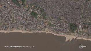 Photo satellite de Beira, seconde ville du Mozambique, prise le 23 mars 2019. (Planet Labs, Inc.)