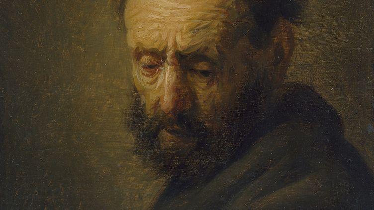 """Tableau """"tête d'homme barbu"""" de Rembrandt ? (AFP PHOTO / ASHMOLEAN MUSEUM UNIVERSITY OF OXFORD)"""