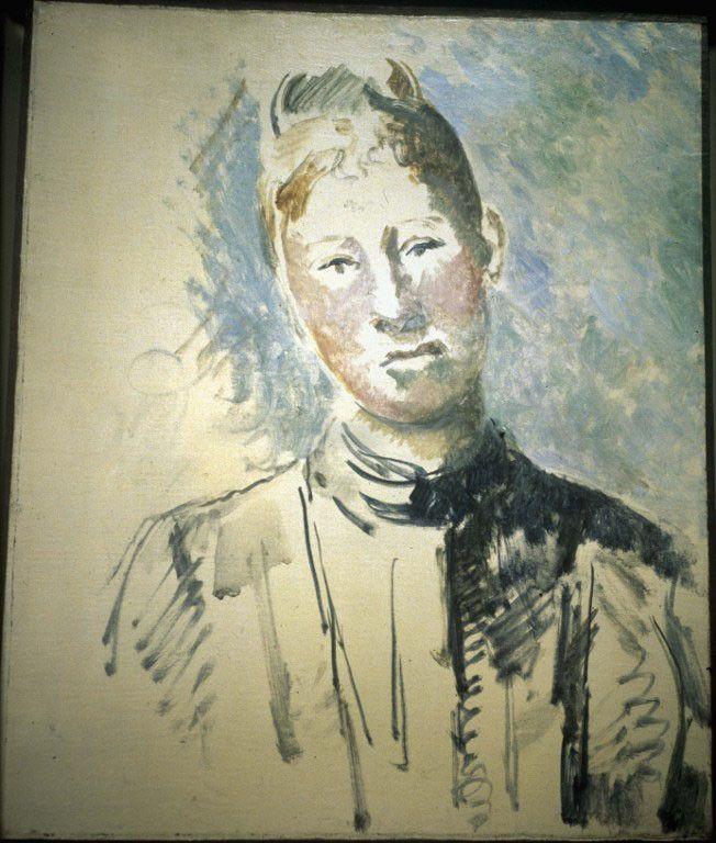 """Portrait de Hortense Fiquet, """"Madame Cézanne"""", par Cézanne (vers 1885)  (Roger-Viollet)"""
