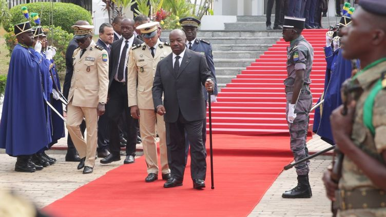 Le président gabonais le 16 août 2019 à Libreville, la capitale gabonaise. (STEVE JORDAN / AFP)