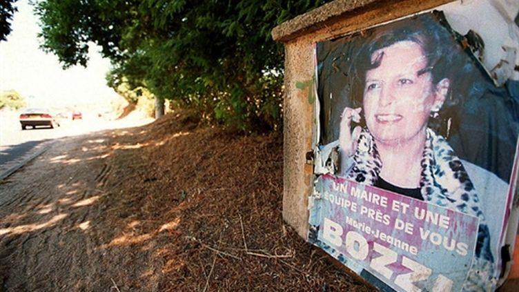 Marie-Jeanne Bozzi sur une ancienne affiche électorale. (AFP - Olivier Laban-Mattei)