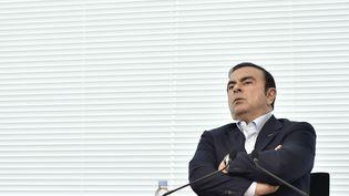 Le PDG de Renault-Nissan-MitsubishiCarlos Ghosn lors d'une interview àYokohama (Japon), le 13 mai 2016. (MIHO IKEYA / YOMIURI / AFP)