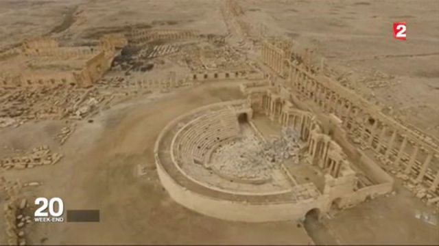 Syrie : la cité antique de Palmyre défigurée par la guerre