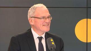 Jean-Bernard Levy, le PDG d'EDF sur franceinfo le 16 février. (RADIO FRANCE)