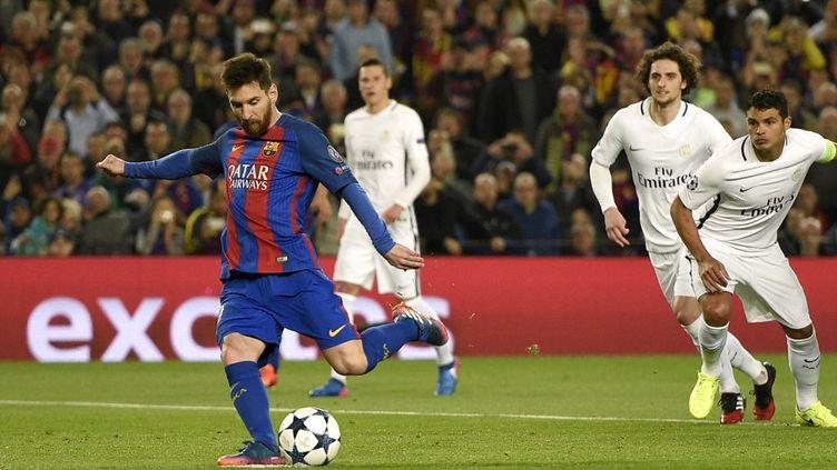 Lionel Messi lors de la dernière rencontre Barça-PSG, le 8 mars 2017 (LLUIS GENE / AFP)