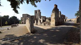 L'église du village d'Oradour-sur-Glane, en Haute-Vienne. (THIERRY ZOCCOLAN / AFP)