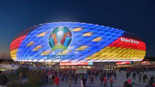L'Allianz Arena de Munich, symbole des turpitudes de l'Euro 2020 puisque l'enceinte bavaroise n'est pas certaine, à un mois de l'ouverture de la compétition, d'accueillir une rencontre. (FRANKHOERMANN/SVEN SIMON / SVEN SIMON)