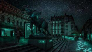 La ville illuminée par la bioluminescence de bactéries marines imaginée par Glowee. (GLOWEE)