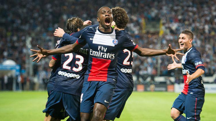 Blaise Matuidi célèbre un but parisien : une image souvent vue cette saison.  (BERTRAND LANGLOIS / AFP)