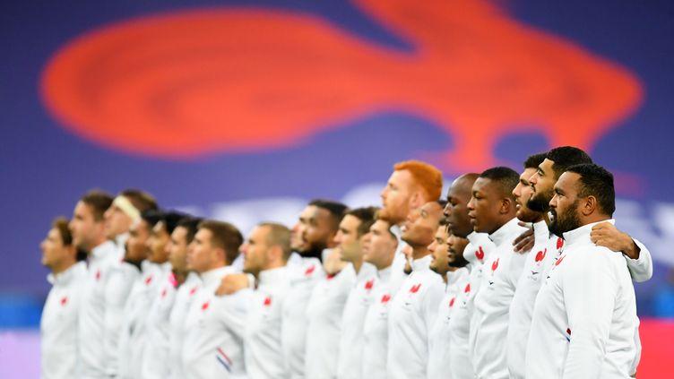 Le XV de France lors du match face à l'Italie pour la Coupe d'Automne des Nations, le 11 novembre 2020.  (PHILIPPE MILLEREAU / KMSP)