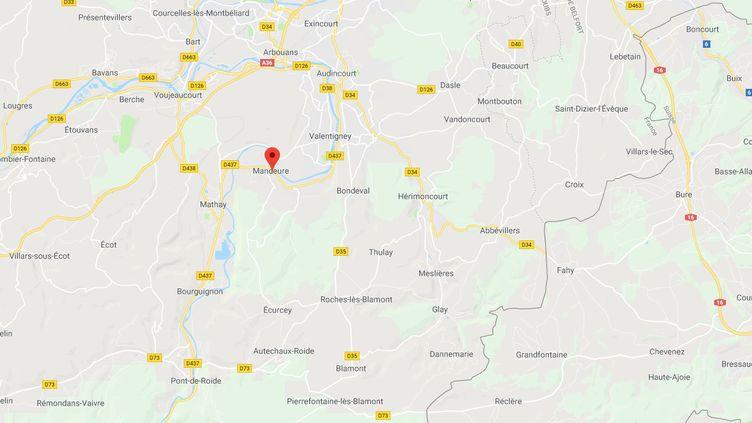 Les faits se sont produits à Mandeure, dans le Doubs. (GOOGLE MAPS)