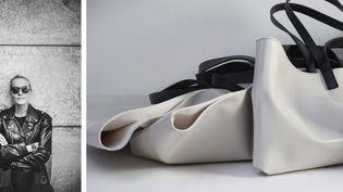 Clémence la styliste et fondatricede la marque de sacs en PVC Cahu (CAHU)