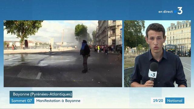 Sommet du G7 : manifestation à Bayonne